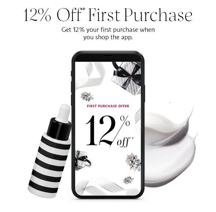 12% off first purchase offer